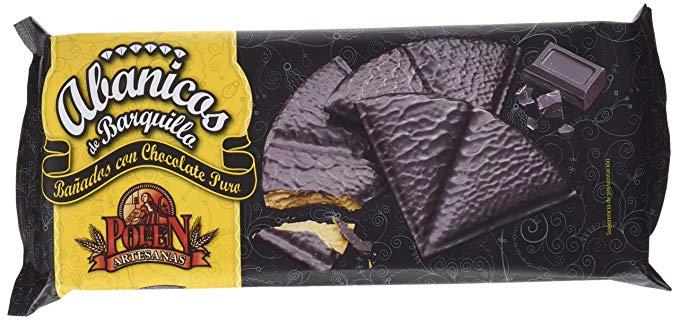 abanicos de chocolate