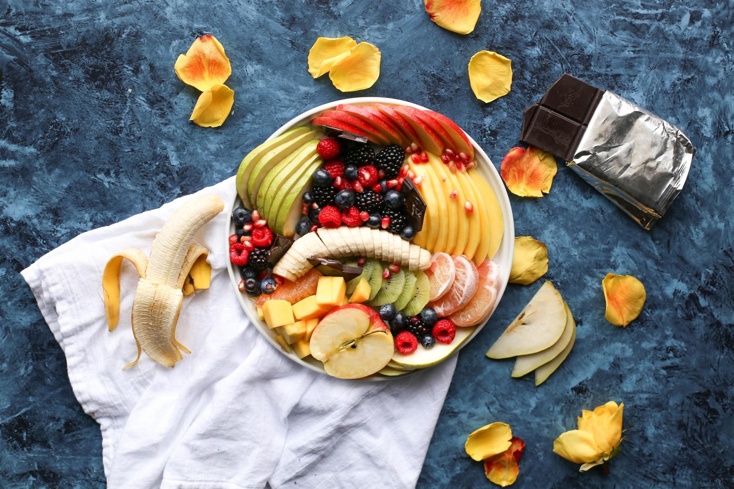 azúcar en frutas